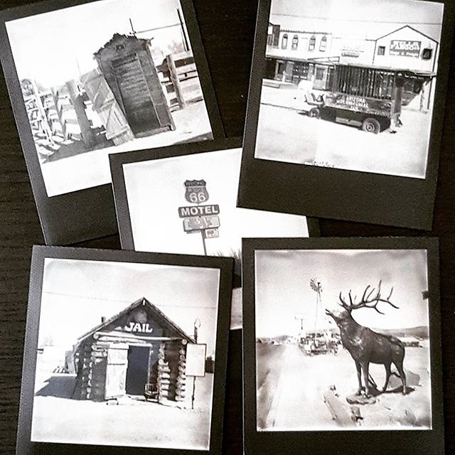 #Polaroid #instantfilm #impossibleproject #photo #blackandwhite #route66 #roadkillcafe